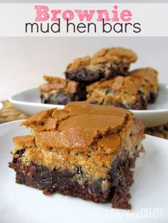 Brownie Mud Hen Bars - Crazy for Crust
