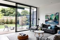 Modern extension by Heartly Home Interior, Interior Modern, Interior Architecture, Home And Living, Home And Family, Casual Family Rooms, Piece A Vivre, Design Moderne, Lounge Areas