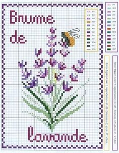 Lavender Free Cross Stitch Chart