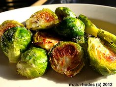 Roasted Brussel Sprouts with Lemon