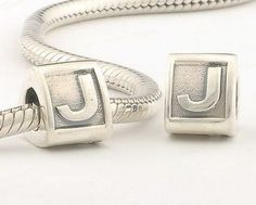 Authentic 100% 925 Sterling Silver Letter J Bead Brand Charms Women Jewelry Fits Pandora Bracelet Hot Selling CKK #Affiliate