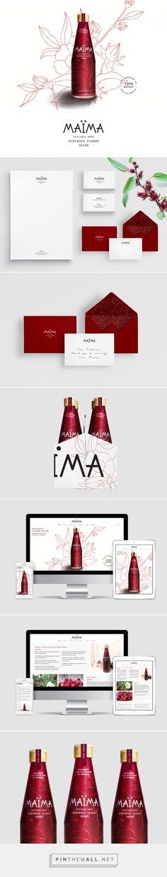 MAÏMA Hibiscus Drink Branding and Packaging by Studio Fernanda Schmidt Web Design Agency, Brand Identity Design, Graphic Design Branding, Stationery Design, Brand Packaging, Packaging Design, Devine Design, Professional Logo Design, Branding Agency