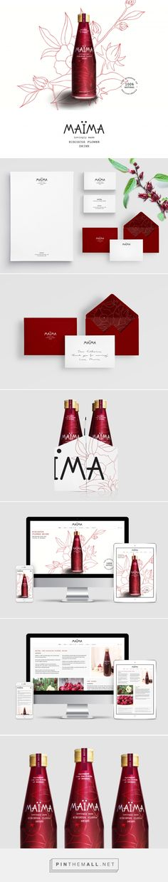 MAÏMA Hibiscus Drink Branding and Packaging by Studio Fernanda Schmidt | Fivestar Branding Agency – Design and Branding Agency & Curated Inspiration Gallery