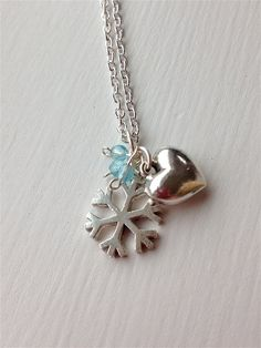 Winter Is My Boyfriend Charm Necklace by ALittleBitPrettyShop