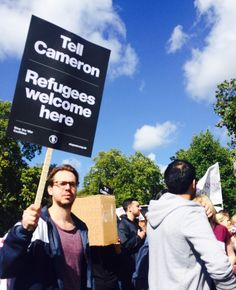 In pictures: Refugee solidarity demonstration sees tens of thousands march on Westminster   Christian News on Christian Today