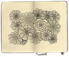 Moleskine doodles by Artist Stephanie Kubo
