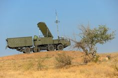 Russian 30N6E1 fire control radar deployed to Ashuluk testing range in southern Russia August 2014