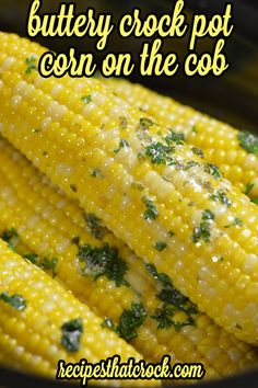 Crock Pot Corn on the Cob: Toss in the slow cooker and go method -- no foil! Great for cookouts with family and friends. | Recipes That Crock!