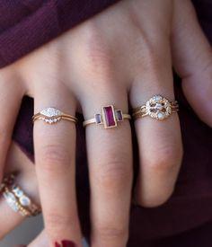 Opal Diamond Trinity Ring - Audry Rose