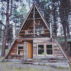 Image result for a-frame house with glass on both sides