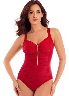 56ad7e549ca Miraclesuit So Riche Zip Code Swimsuit. Swimwear UkOne Piece ...