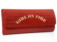 Made out of old fire hose, how perfect!