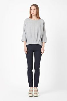 COS Top with pleated hem
