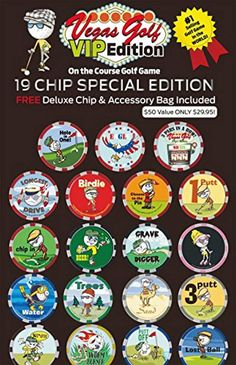 723f9007a0 Vegas Golf VIP Edition 19 chip Game with Free Deluxe Tee Bag