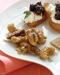 These elegant mixed nuts perk up a plate of seasonal snacks.