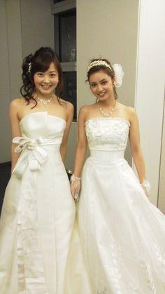 水卜麻美+平愛梨 Beautiful Person, Asian Woman, One Shoulder Wedding Dress, Wedding Dresses, Sexy, Womens Fashion, Cute, Model, Beauty