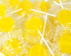 yellow lollypops