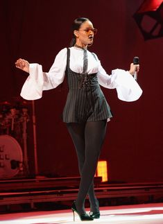 """capacity:  """" artgroupie:  """" rihannainfinity:  """"September 24: Rihanna performs at the Global Citizen Festival at Central Park in NYC  """"  best rihanna look of 2016?  """"  I have to agree  """""""