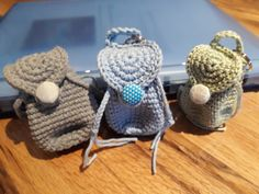 Time to go to school: backpack (bag to school; Love Crochet, Crochet Hats, Day Bag, Summer Bags, Recycled Fabric, Kids Backpacks, Animal Tattoos, Crochet Animals, School Bags