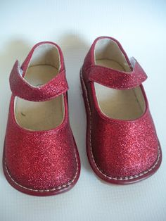 Red Glitter Squeaky Shoe-