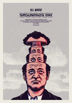 dsgn-me:  Not For Rental - Groundhog Day  (by Andrew Fairclough)  VHS box and poster for Not For Rental exhibition, a movie-inspired charity exhibition held at 71a Gallery London, July 2013.   DESIGN STORY:  | Tumblr | Twitter | Facebook | Google+ |