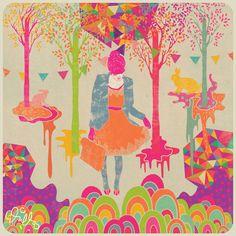 Fã de livros e filmes de fantasia, a ilustradora Diela Maharanie expressa toda sua criatividade com desenhos cheios de cores. De Jacarta, na Indonésia, ela cria e mostra em sua fanpage retratos mágicos de meninas-mulheres feitos com uma paleta de cores super-radiante