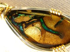 Boulder Opal with Sterling Silver and 14K GF  by thanksloveart, $62.00