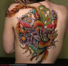 phoenix bird tattoo for men | Tatto design of Bird Tattoos phoenix - TattooDesignsIdeas.in