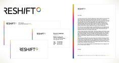 Reshift Consulting Ltd - identity, business card, letterhead, envelope, print Print Design, Web Design, Print Advertising, Letterhead, Bar Chart, Digital Marketing, Envelope, Identity, Branding