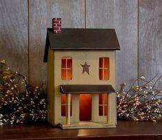 Primitive Saltbox Decor Primitive Country Style Lighted Saltbox House Home Decor