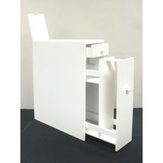 White Wood Bathroom Floor Cabinet | Overstock.com Shopping - The Best Deals on Bathroom Cabinets
