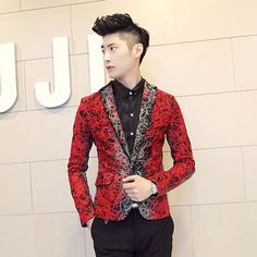 Men'S Clothing Autumn And Winter Blazer Male Slim Gradient Color Male Blazer Outerwear From Huang5264218510, $48.17 | Dhgate.Com