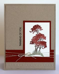 Scrappin' and Stampin' in GJ: cards (I like the use of different markers on the leaves)