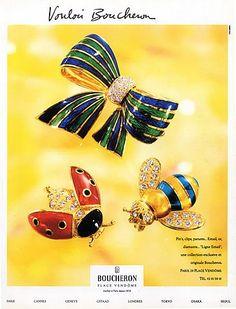 Boucheron (Jewels) 1991 Pins, Clips, Ligne Email
