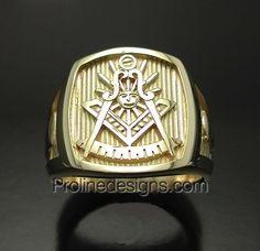 Custom Solid Gold Past Master Masonic Ring #Freemason #pastmaster