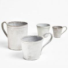 Astier de Villatte Simple Drinkware Handmade on the Rue St. Honoré in Paris, these 18th-century inspired ceramics are crafted in a traditional pottery style passed down from generations.