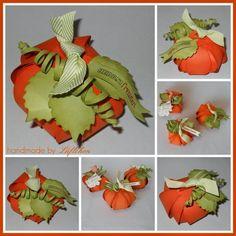 Kürbis aus der Zierschachtel Verpackung mit der Geschenkschleifen Bigz, SU, Stampin Up! Pumkin curvy keepsake Box with Gift bow Bigz, Orangentraum Farngrün, Lüftchen Stempelstudio