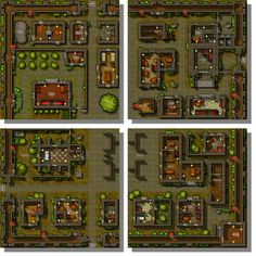 top-down city map Tiles Game, Area Map, City Scene, City Maps, Pen And Paper, Top View, Dungeons And Dragons, Game Art, Art Reference