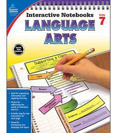 Interactive Notebooks: Language Arts Resource Book Seventh Grade