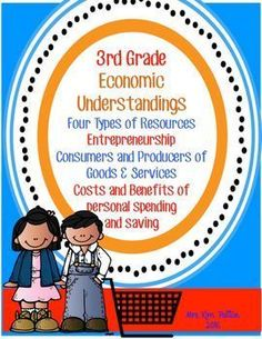 This unit is designed for the pages to use alone or in an Interactive Notebook! The unit follows 3rd grade- Georgia SS Standards but can be used for most states.   The students will describe the four types of productive resources: Natural, Human, Capital, Entrepreneur. Students will be able to give examples of interdependence and trade and will explain how voluntary exchange benefits both parties.