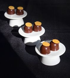 Cafe-Caramelo Bonbons: Burnt Caramel, and Coffee Ganache by Chef Robert Nieto of Kendall Jackson Winery, finalist of the Valrhona C3 at @starchefscom ICC2015