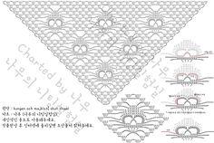 Dreieckstuch Totenkopf-Häkelschrift