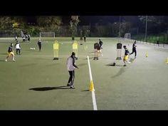 Fussballübung - Endlosform zum Schnittstellenball - YouTube