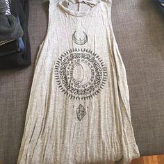 Free people style top hippie Grey high neck hippie top, flows Tops Tees - Short Sleeve