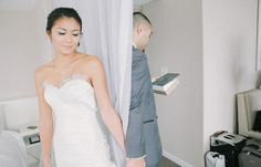 No-look first-look, wedding day inspiration, beautybyjill bride