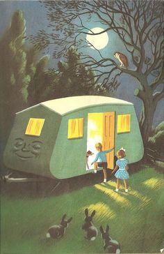 "Co-Co the Caravan by John Kennedy, from ""Tootles the Taxi"", Ladybird Books 1956. Reminds me of Roberta and Smitty. :)"