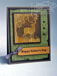 Greeting Card - Happy Father's Day Buck Deer for Father Dad Boyfriend Husband Son Friend in Green Yellow Brown