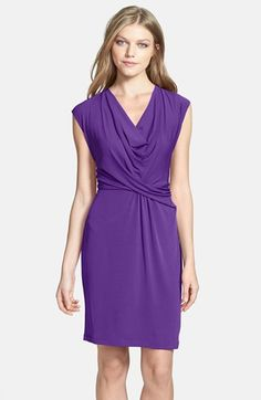 Donna Ricco Cowl Neck Matte Jersey Dress available at #Nordstrom