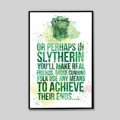 CLEARANCE Slytherin watercolor poster, Harry potter, Severus Snape Patronus Print Harry Potter, gift for him, nerd gifts, Movie Poster_34 by InstantGoodVibes on Etsy