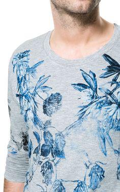 SUDADERA FLORES - Camisetas - Hombre - ZARA España